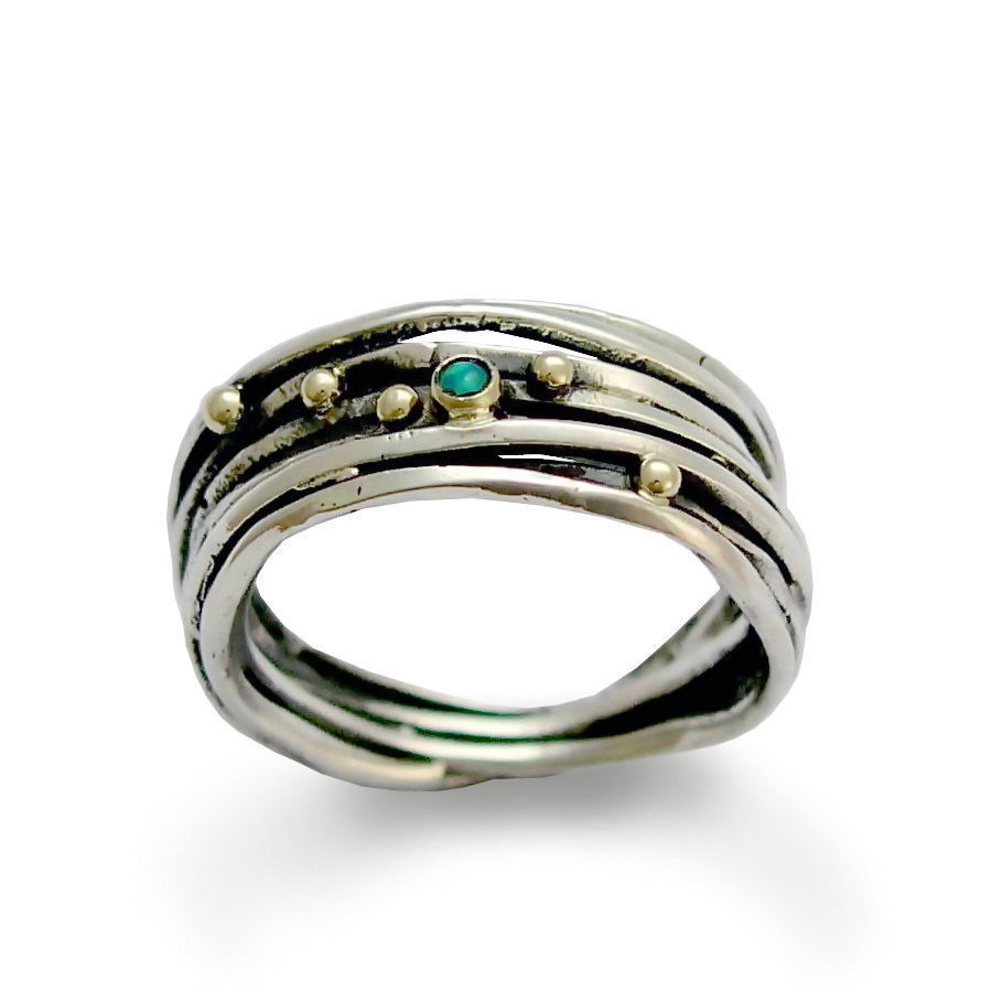 Buy 925 pure silver silver gold frame ring, oxidized packing opal handmade 8 mm ring ring for men and women