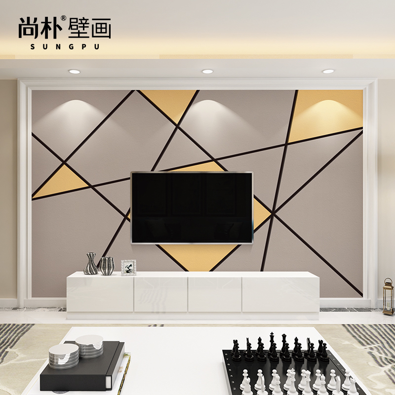 3d电视背景墙壁纸简约现代客厅影视墙壁画卧室无缝墙布无纺布墙纸