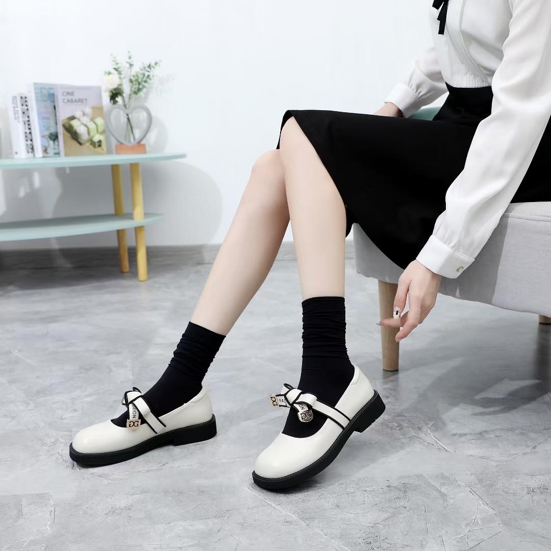 单鞋女2021年韩版新款鞋洛丽塔软底小皮鞋蝴蝶结玛丽珍舒适乐福鞋