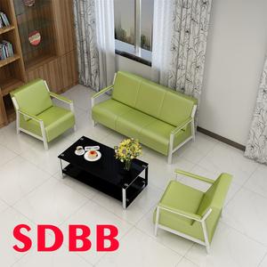 办公沙发商务接待会客办公室沙发简约现代茶几组合