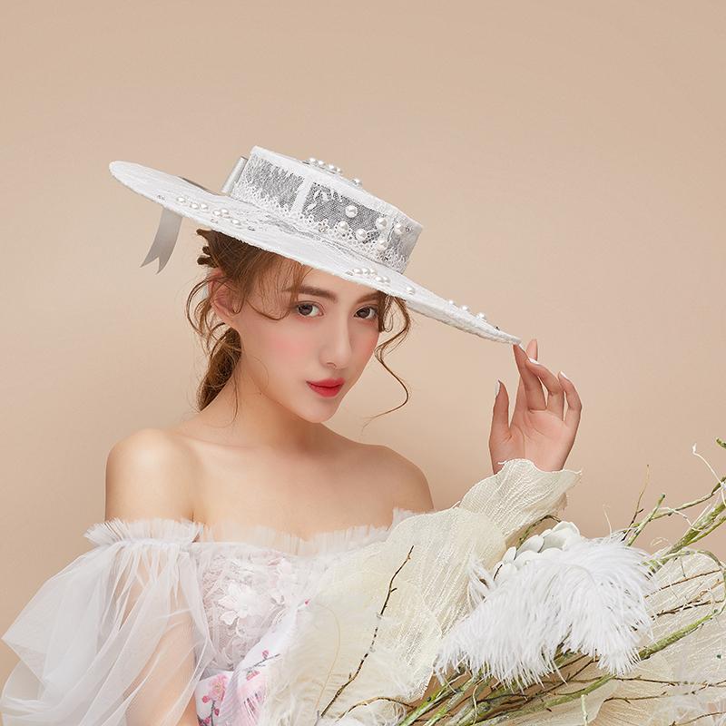 新娘礼帽结婚帽子名嫒宴会年会欧式礼帽外景旅拍影楼演出帽