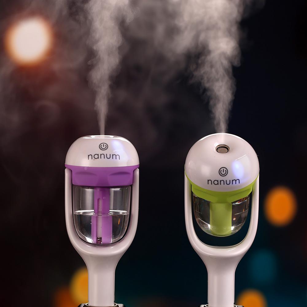 Car humidifier car fragrance oil sprayer mini car air purifier car to eliminate odor