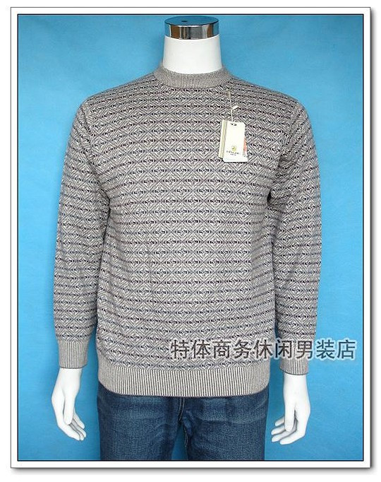 Yard breaking, warehouse clearing, silver fox counter, authentic, fattening and larger clothing, winter large round neck cashmere sweater A609