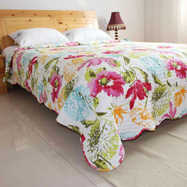 田园生活绗缝被床单床盖床垫单件夹棉被子可铺沙发多用途床上用品