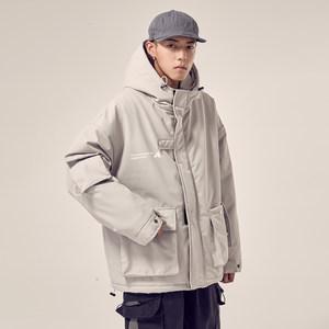 男道自制冬季新款韩版工装男士棉服