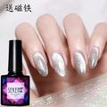 晶石猫眼甲油胶一套万能冰晶奶茶粉银色宽送磁铁花样精金石指甲胶