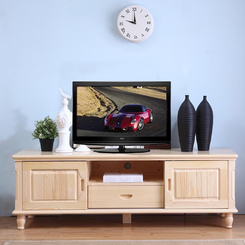 促销松木地柜全实木电视柜储物柜卧室客厅简约电视机矮柜住宅家具