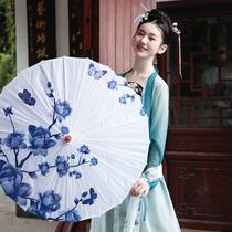 青花瓷古装油纸伞古代雨伞古典伞舞台舞蹈伞跳舞演出道具装饰伞