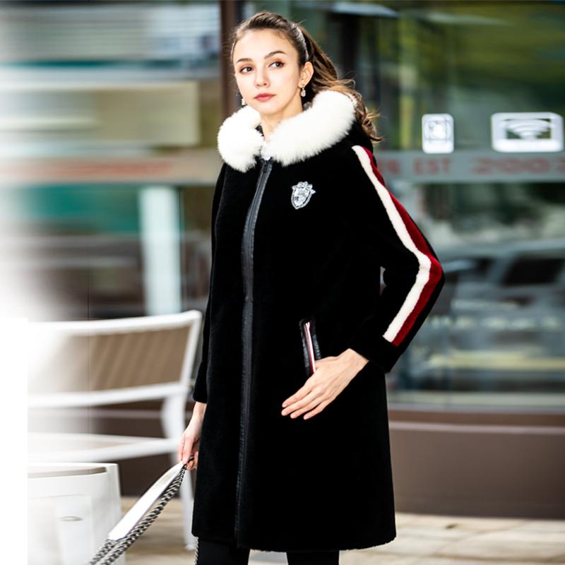 四月初九加大码女装胖MM2018冬高端100%羊毛仿皮草中长款大衣推荐