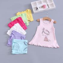 儿童裙子夏季薄款童装女宝宝莫代尔背心裙女童睡裙上衣裙连衣裙夏