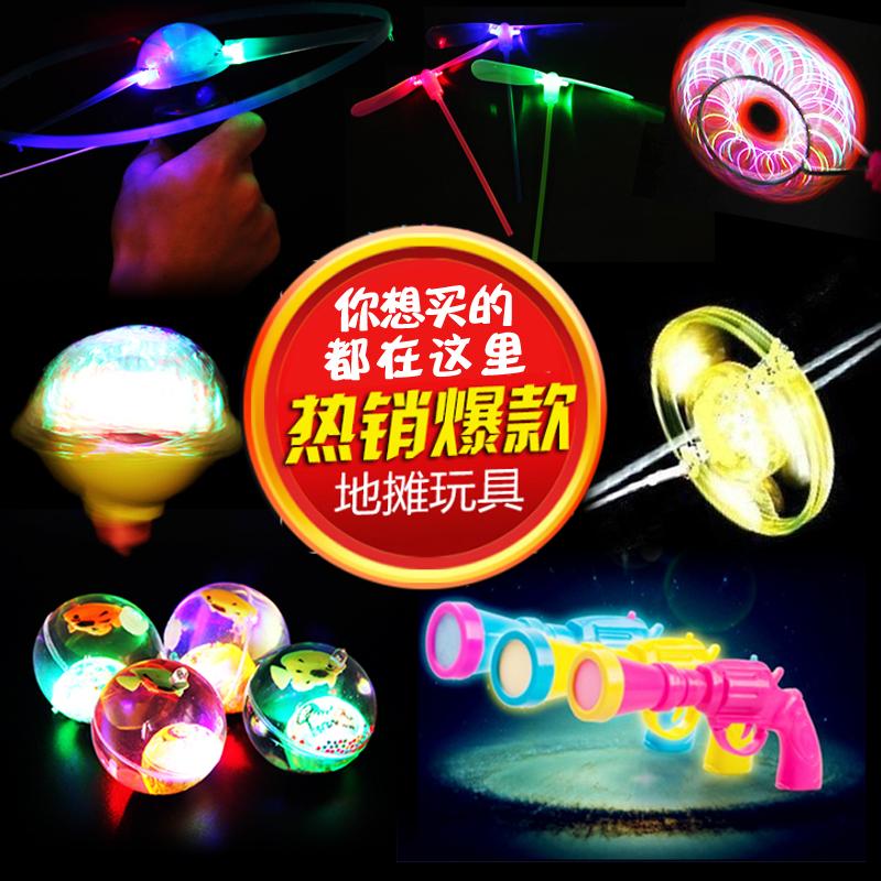 Тянуть нить нло свет небольшой игрушка летать стрелка бамбук стрекоза гироскоп ребенок площадь ночь город земля стенд источник товаров новый