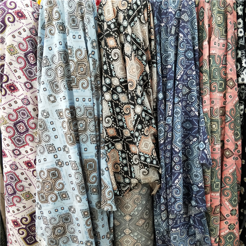 Package mail impervious national style printed fabric personalized shirt cheongsam Dai skirt pants dress ethnic minority fabric