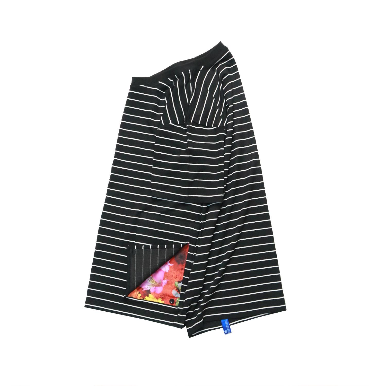 潮牌短袖 2018S/S P-1夏季新品条纹短袖圆领莫代尔T恤情侣装国潮