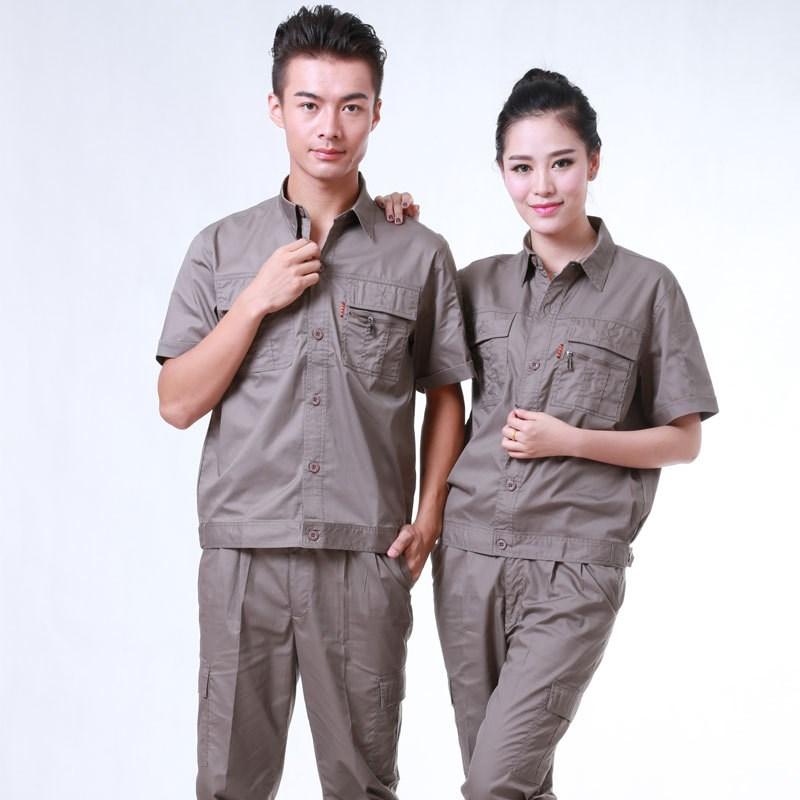 电网夏季工作服套装 长短袖工程汽修物业服电力电工服包邮
