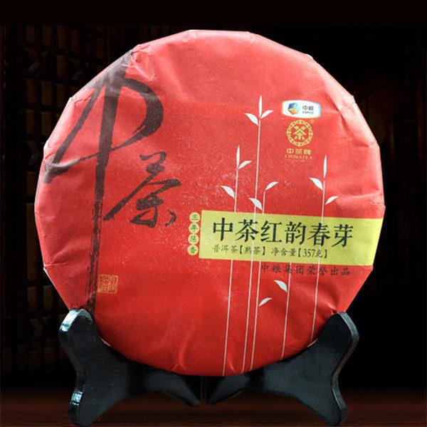 中茶牌 16年 红韵春芽 普洱茶熟茶饼 357g 优惠券折后¥108包邮(¥308-200)京东¥278+