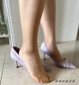 欧美出口~带脚型T裆无痕全透明5D超薄隐形加长防勾丝袜光滑连裤袜