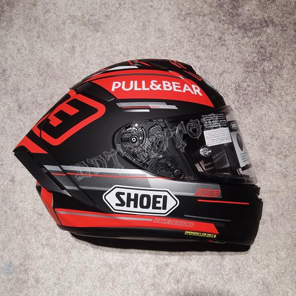 DDT 全新 日本SHOEI X-14 Marquez 马奎斯黑红灰哑光蚂蚁赛车头盔