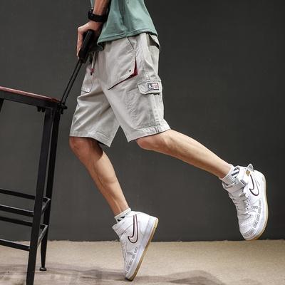 夏季工装短裤男韩版潮五分休闲裤日系纯棉 QT905-Y852-P45