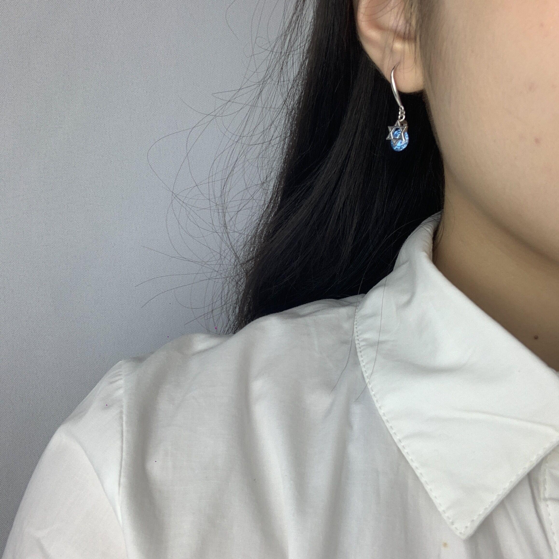 星星耳钉蓝宝石光耳环女学生耳饰青春简约甜美风设计2021新款饰品