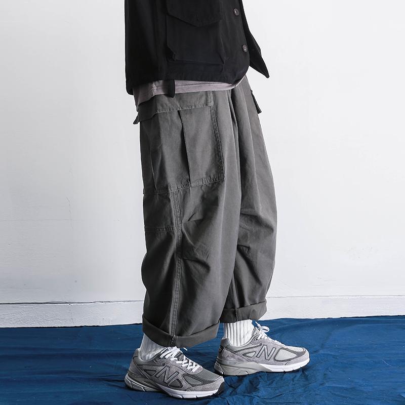 阿美咔叽直筒宽松肥裤腿男女休闲裤满135.00元可用1元优惠券