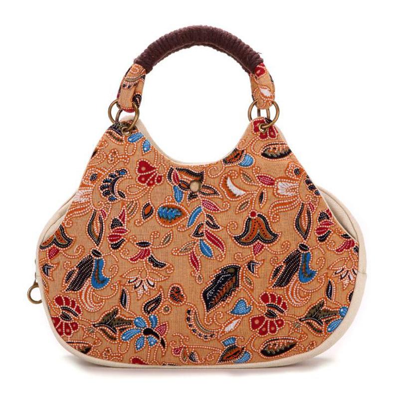 彩云印记新款云南民族风特色女包女士印花碎花手提包包帆布女包