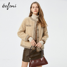 Evelie fur women 2019 new autumn and winter short net red small fragrant wool coat lamb wool coat women