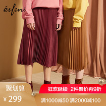 Pre-sale everly Skirt 2018 skirt Children autumn winter French retro winter skirt dress a skirt pleated skirt