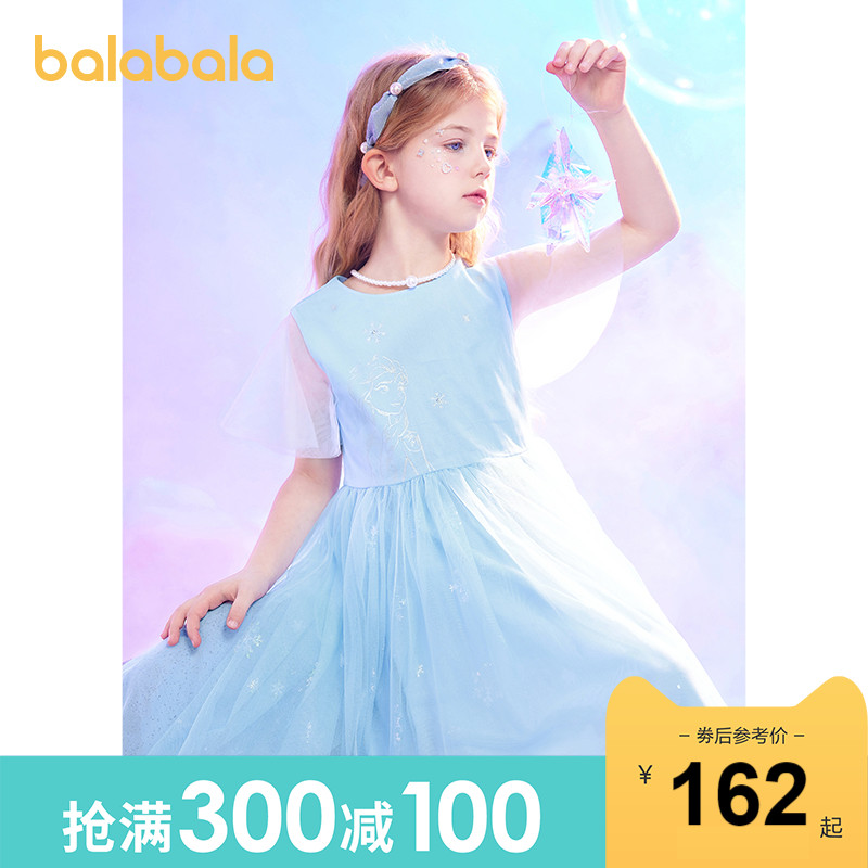 Ice and snow illegal IP Barabala children skirt children's princess dress 2021 new summer dress