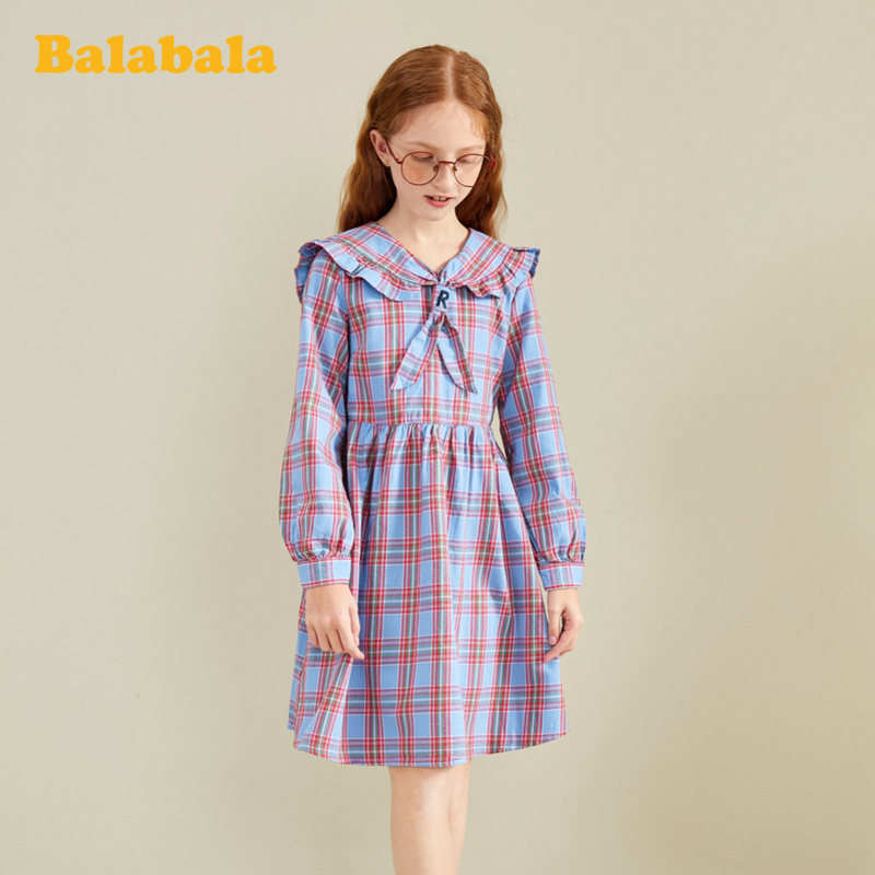 Store delivery barrabarrabarra girls' skirt children's princess skirt spring dress 2020 new children's Plaid