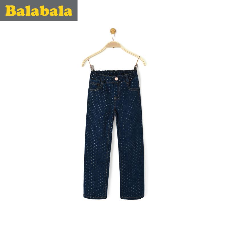 巴拉巴拉女童牛仔兒童童褲
