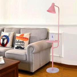 客厅落地灯北欧ins风置物架茶几马卡龙立式台灯卧室床头落地台灯图片