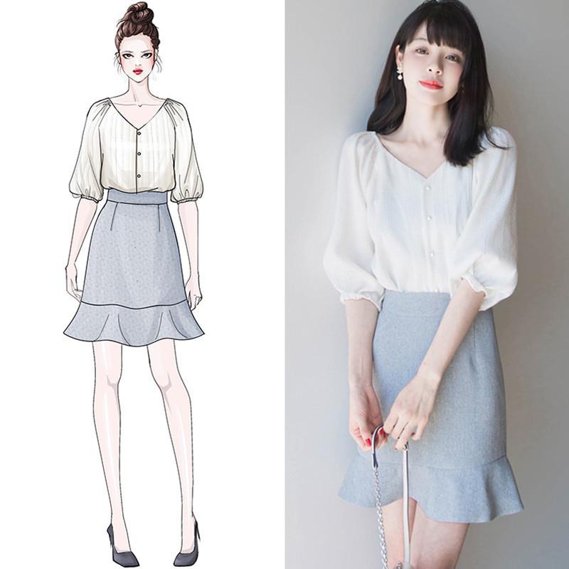 淑女休闲女装春装潮女神套装雪纺衫中长裙子小香风洋气减龄两件套