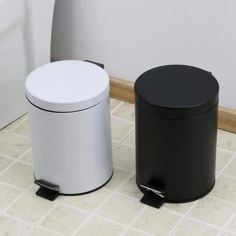 出口款 歐式5升緩降靜音不鏽鋼腳踏式家用垃圾桶房間衛生間垃圾桶