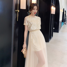 Xianqi evening dress 2019 gas field queen birthday party dress usually can wear simple and generous temperament celebrity