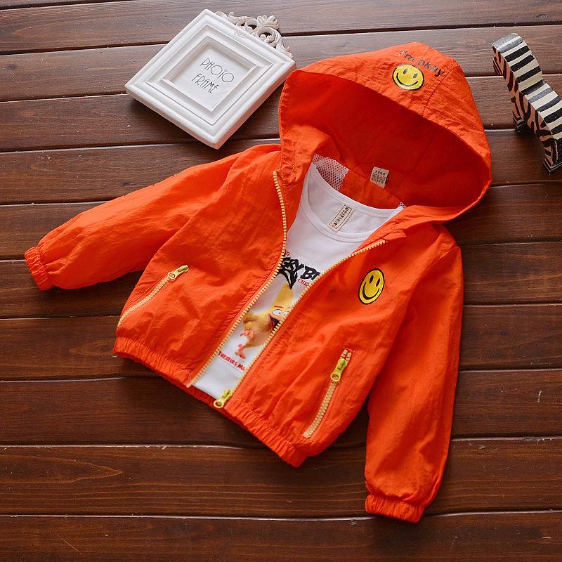 Новый ребенок ребенок случайный солнцезащитный крем одежда пальто осень мальчиков улыбка куртка 1-2-3-4 лет пальто наряд