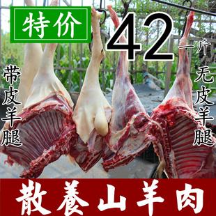 羊排羊腿烧烤羊肉串 带皮羊肉 新鲜羊肉生羊肉500g农家散养山羊肉