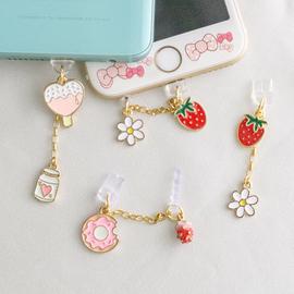 草莓甜甜圈手机防尘塞苹果华为P30充电塞荣耀OPPO数据塞VIVO连塞
