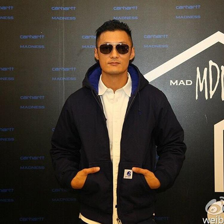 Winter Yu wenles same hooded jacket mens fashion Plush coat cooperative cashmere zipper cardigan