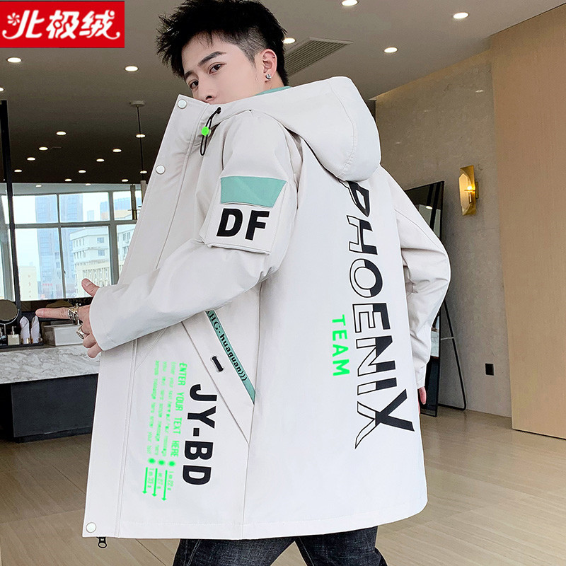 Authentic Arctic fleece mens clothing autumn and winter Plush warm cotton coat for mens leisure medium length thick jacket coat