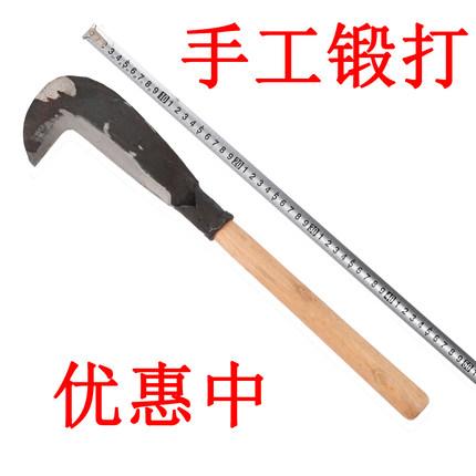 镰刀劈砍柴刀户外农用弯刀山刀树刀勾刀柴刀开刃开路刀砍材大小