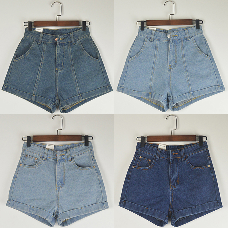Broken size special price super slim high waist jeans and shorts womens fashion Korean version summer versatile loose wide leg shorts