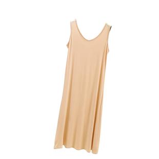 春夏季莫代爾吊帶打底裙無袖背心裙女寬鬆大碼外穿中長款內搭襯裙