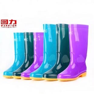回力雨鞋成人女813款中高筒水靴牛筋底胶鞋防水保暖套鞋防滑雨靴