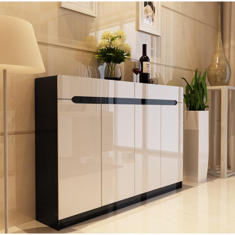 鞋柜 烤漆大容量欧式木质定制门厅玄关柜 简约现代白色田园薄鞋架