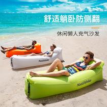 户外懒人充气沙发袋便携式空气床垫午休露营冲气垫床单人沙滩椅子