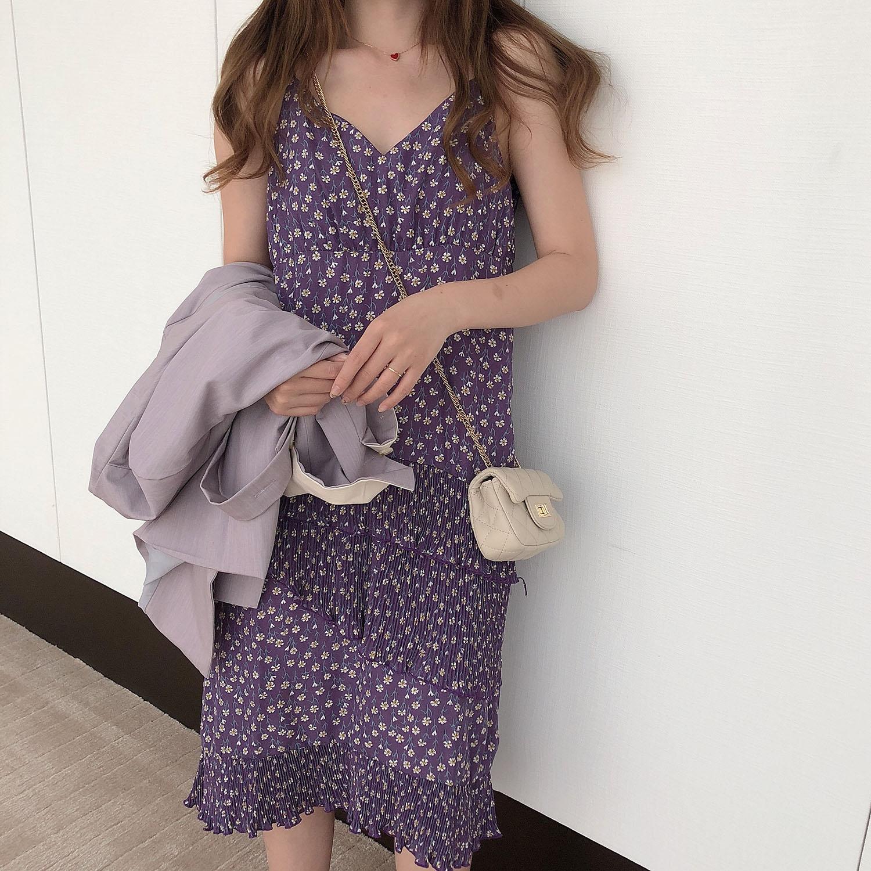 kumayes2019秋季新款韩版吊带裙