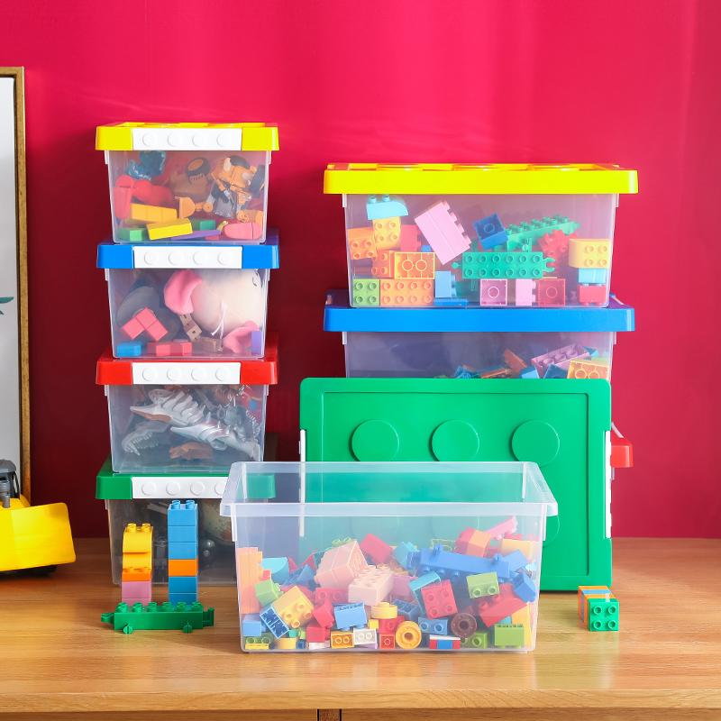 儿童乐高积木收纳箱透明塑料整理箱子宝宝婴儿玩具收纳神器积木盒