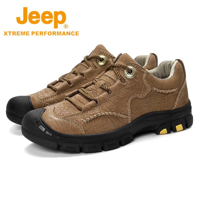 Jeep吉普冬季新款登山鞋男户外男士山地越野跑鞋沙漠低帮徒步鞋子