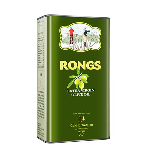 融氏 RONGS 西班牙 橄欖油3L 罐 特級初榨食用油 鐵罐裝