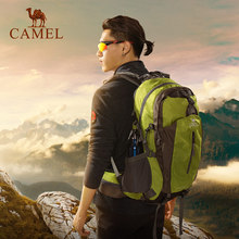Camel outdoor mountaineering bag light and large capacity cross-country riding hiking bag sport shoulder backpack men and women